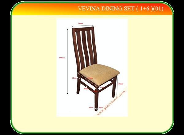 VEVINA DINING SET ( 1+6 )(01)